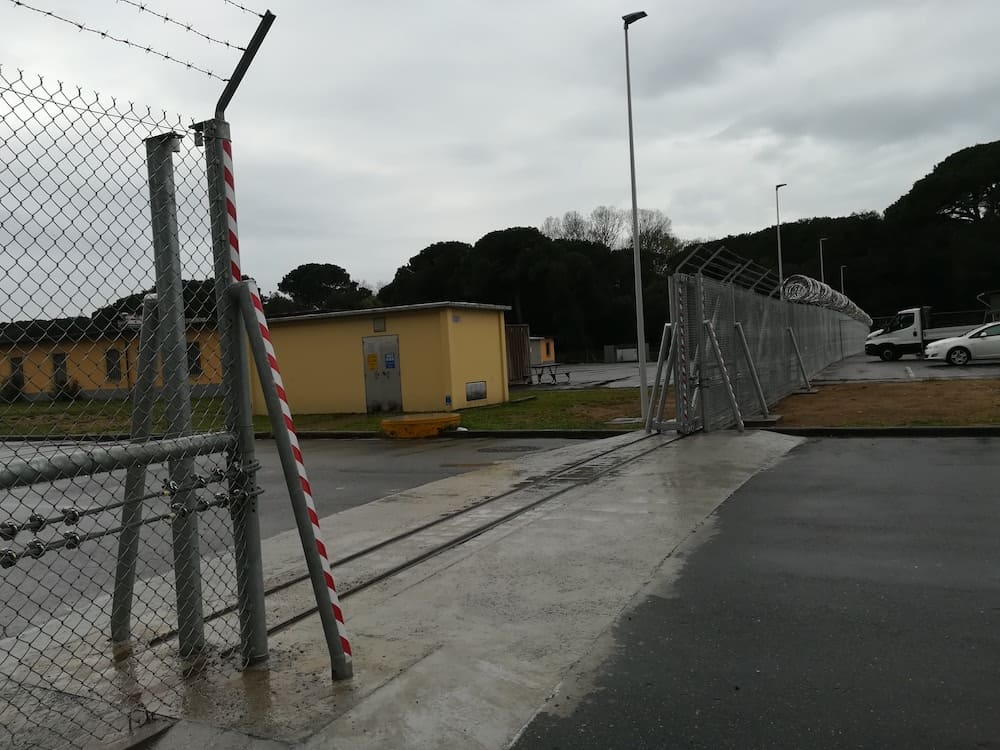 New fences at Camp Darby