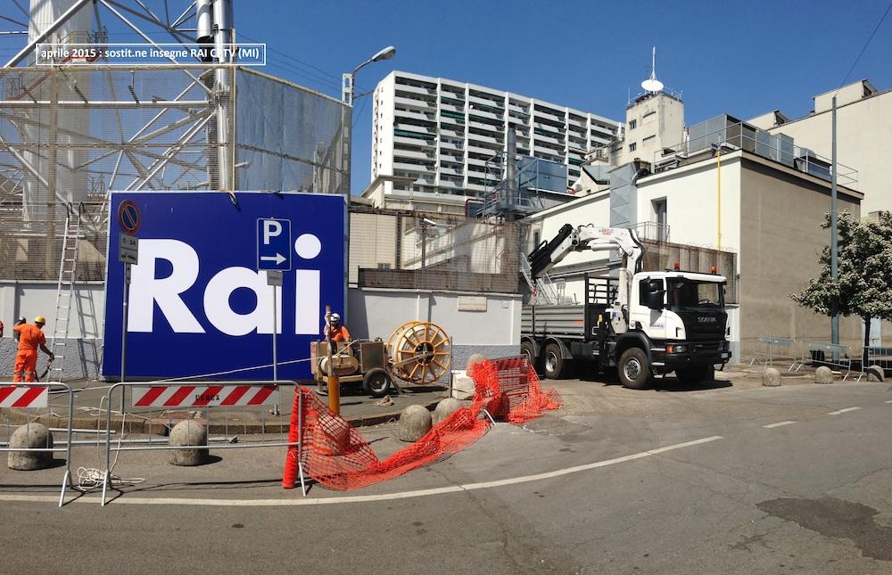 Insegna RAI CPTV Milano