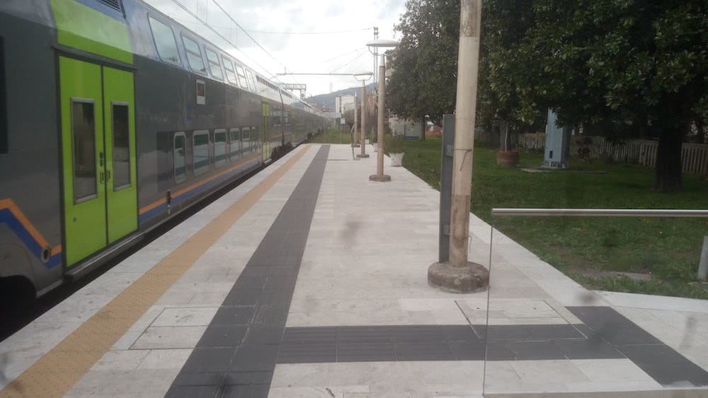 Raising of the first and second platform at Montecatini railway station