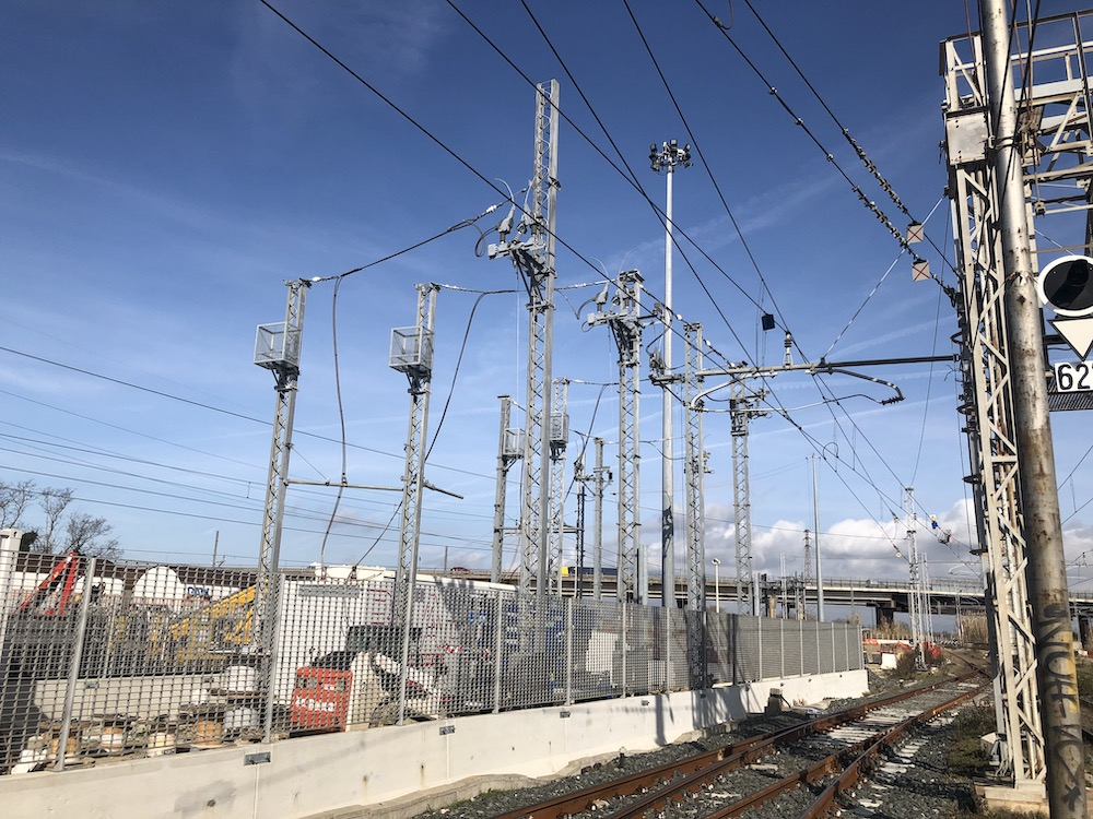Adaptation of the electric traction power supply scheme at the Livorno Calambrone station
